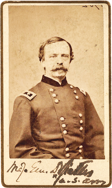 Signed Photo of Union General Sickles, First to Use