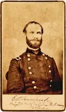 Rare Signed CDV Photograph of E. D. Townsend, Adjutant General of the Union Army