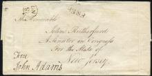 Superb John Adams Free Frank on Cover Addressed to Senator John Rutherford of NJ