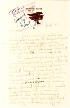 Rare Autograph Letter Written by Composer George Antheil from Famous Bohemian Grove