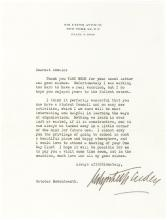 Rare and Wise Letter from Cosmetics Queen Elizabeth Arden