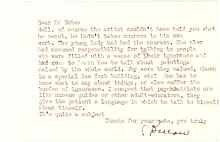 Letter from Saul Bellow, Canadian-American writer and winner of Nobel & Pulitzer prizes