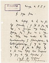 Revealing Thomas Mann 1919 Autograph Letter Signed About the German Revolution