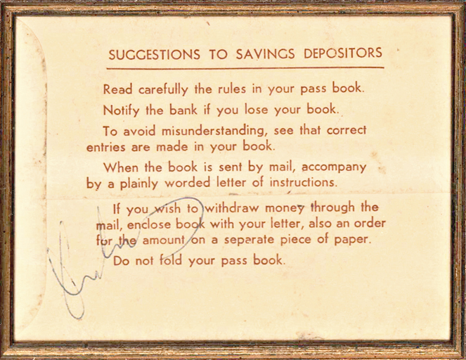 John Kennedy Signed Portland, Oregon, Bank Book during His 1960 Presidential Campaign
