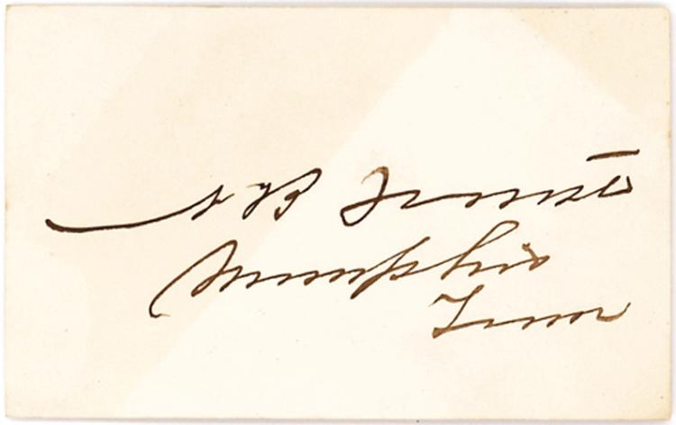 Rare Signature of N. B. Forrest, Brilliant and Feared Confederate General