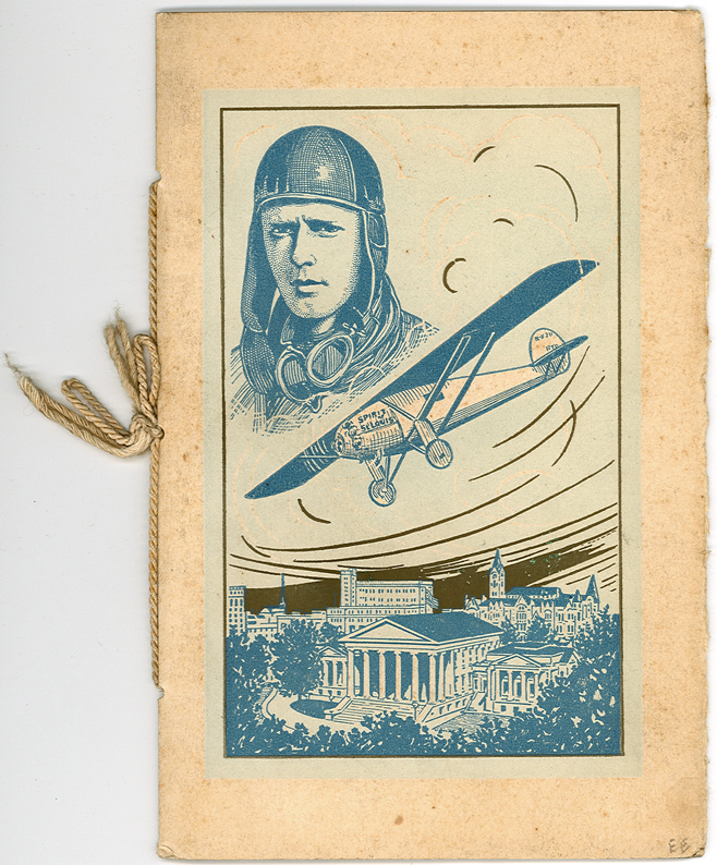 Unsigned Virginia Menu Celebrates Lindbergh's Historic 1927 Transatlantic Flight