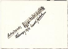 Rare Schoenberg Musical Quotation from his Chamber Symphony No. 1