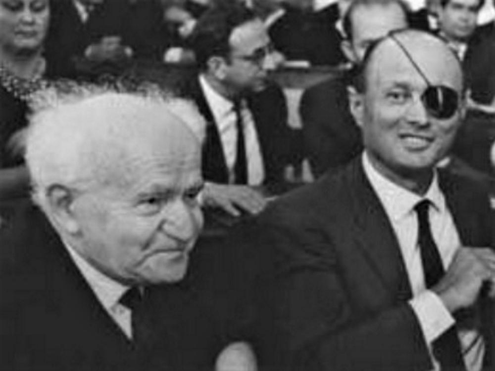 """Ben-Gurion to Dayan Doubts """"chance of peace with Arabs"""""""