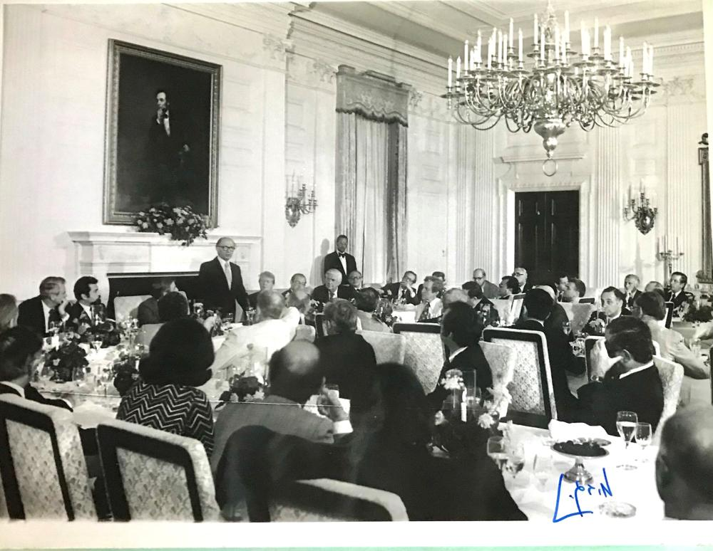 Signed Photograph of Begin at White House State Dinner