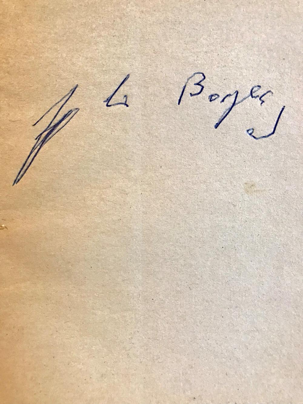 """Rare Signed Copy of Jorge Luis Borges' """"Ficciones"""""""