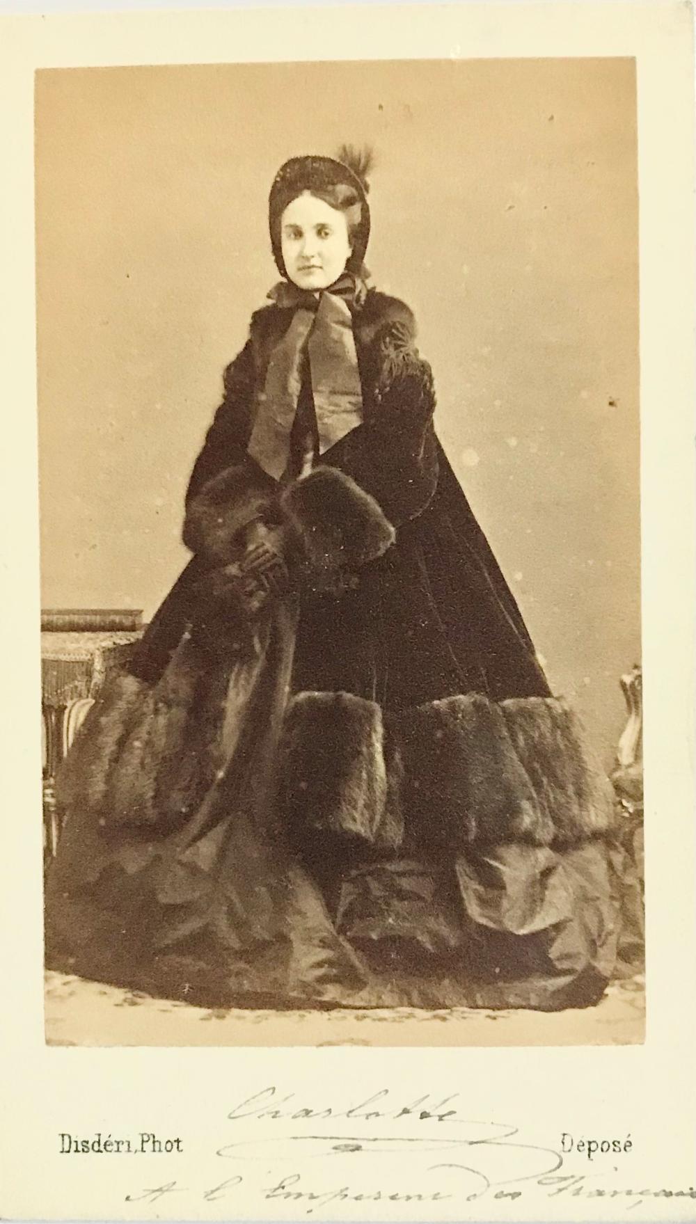 "Unique Carlota of Mexico CDV to Emperor Napoleon III, Whom She Soon Regarded as ""the Principle of Evil in the World"""