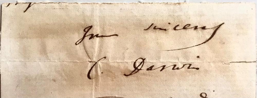Uncommon Signature of Charles Darwin