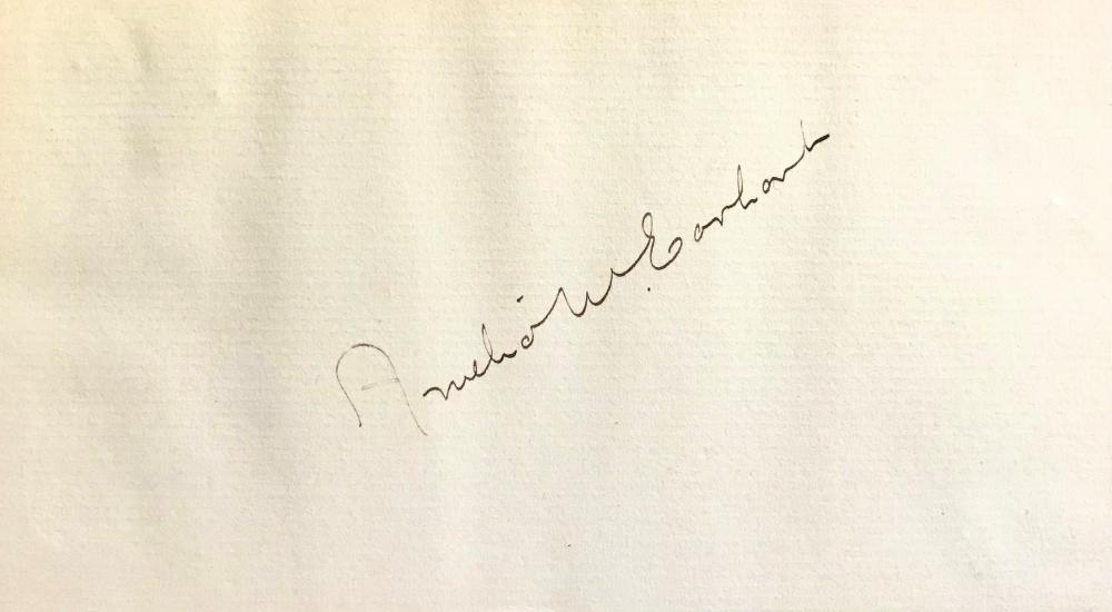 Signature of Amelia Earhart First Woman to Fly Solo Across the Atlantic