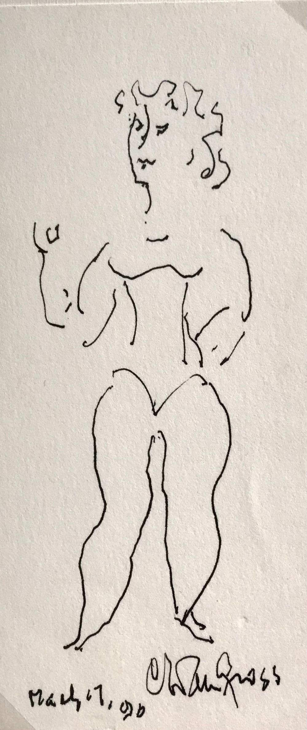 Original Drawing by Chaim Gross, Jewish-American Artist