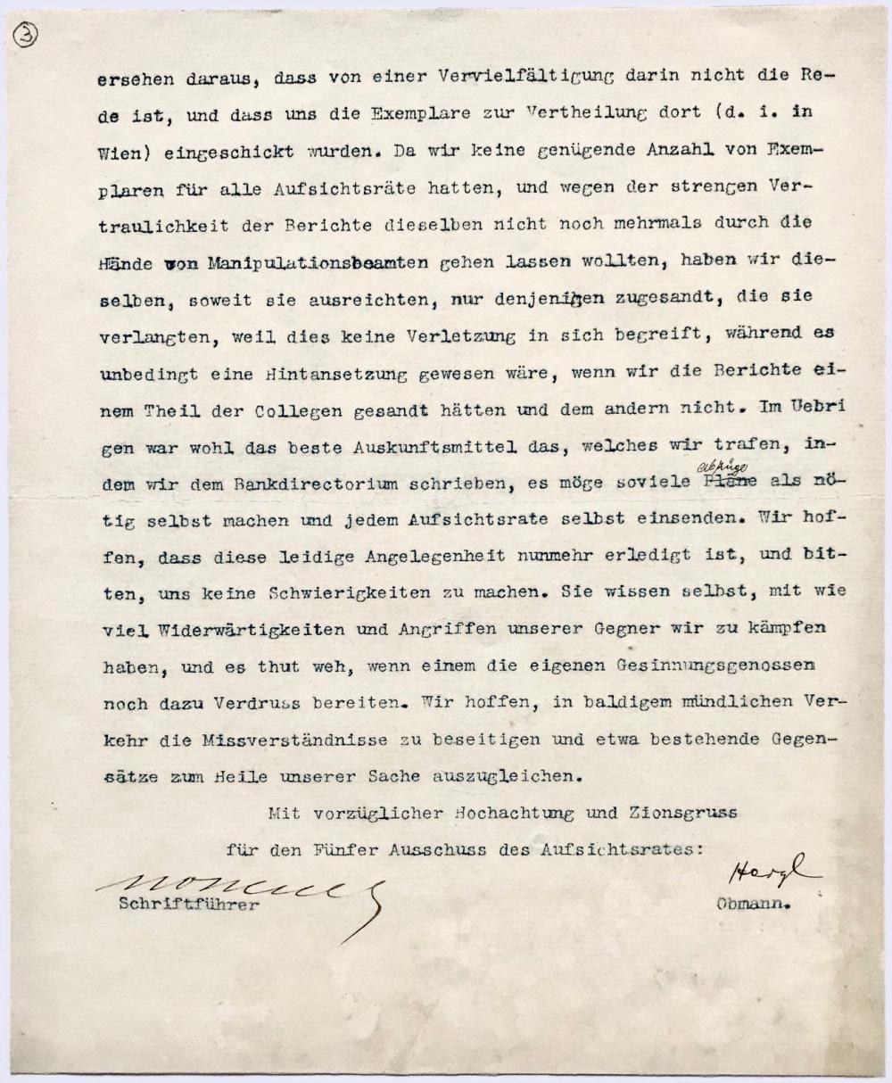Herzl on Establishment of Jewish Colonial Bank in London