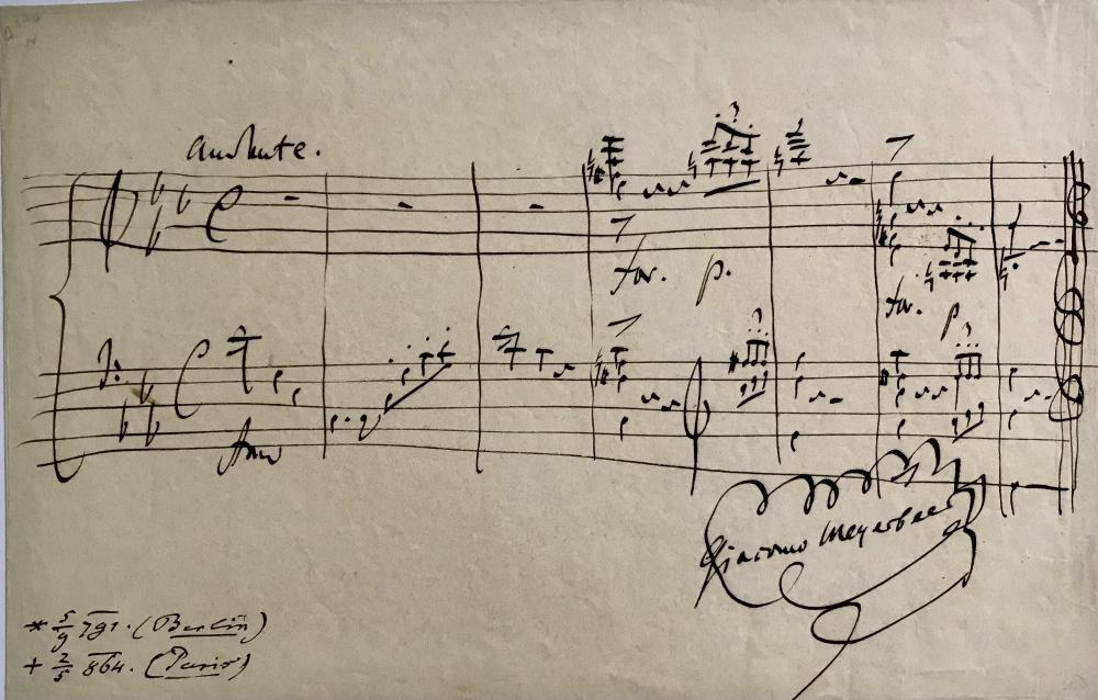 Stunning Musical Quotation by Meyerbeer