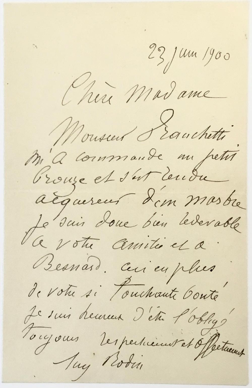 Rodin Sells Sculptures to Major Italian Collector