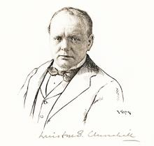 Original Drawing of Churchill Signed at the Time of the Dinner that Led to Britain's Disastrous Return to the Gold Standard