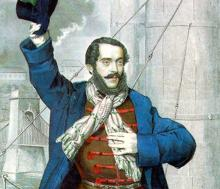 Hungarian Revolutionary Leader, Lajos Kossuth, Gratefully Accepts a Gift to Support
