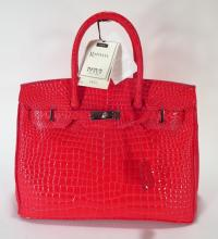 Raphael Red Crocodile Birken Style Handbag