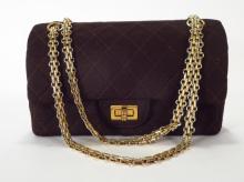 Vintage Chanel Brown Quilted Flap Shoulder Bag