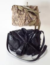 Carlos Falchi Snake Skin Rio Handbags