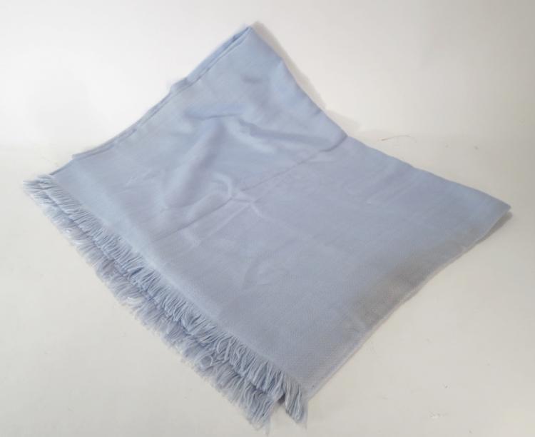 Hermes Pastel Blue Shawl