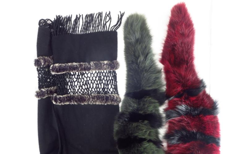 Striped Fur Collars and Shawl