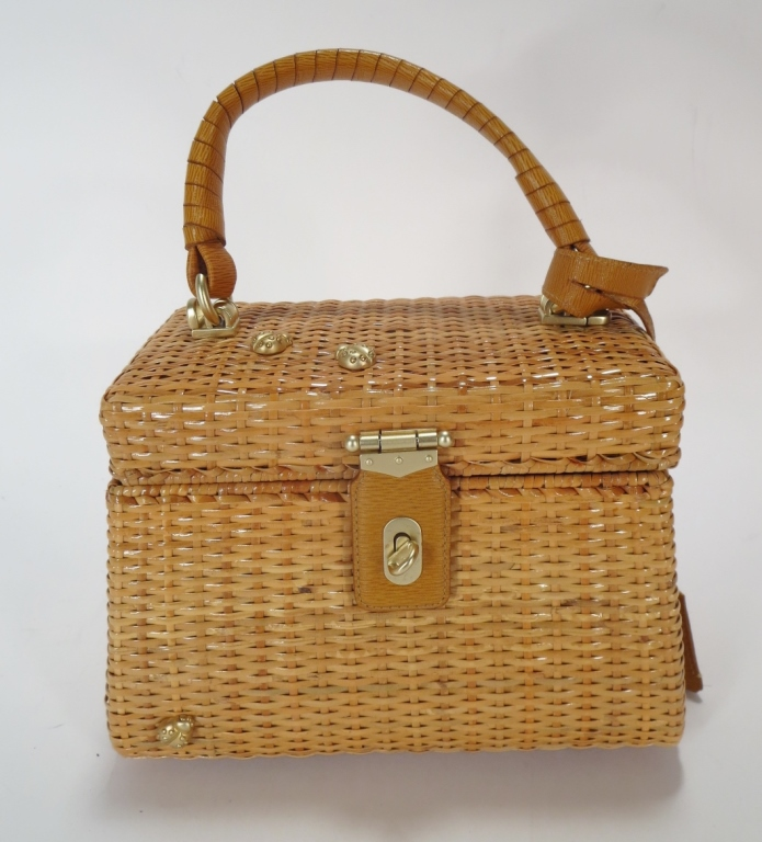 Keiselstein-Cord Wicker Box Bag