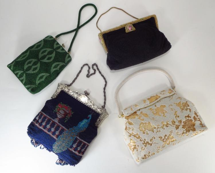 Four Vintage Beaded Evening Purses