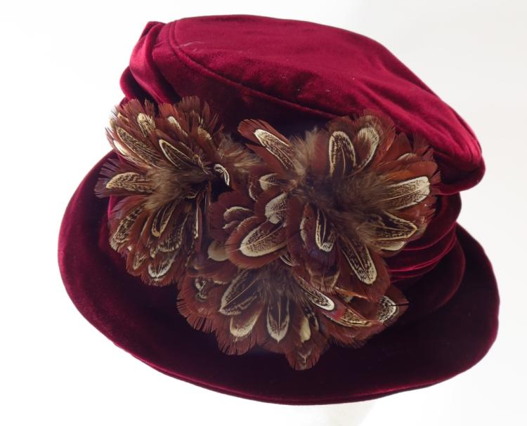 Philip Tracy Velvet Hat