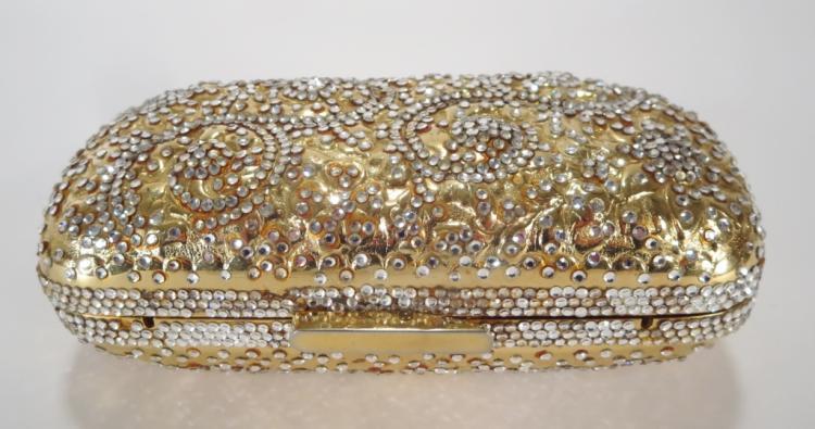 Vintage Judith Leiber Crystal Patterned Minaudiere