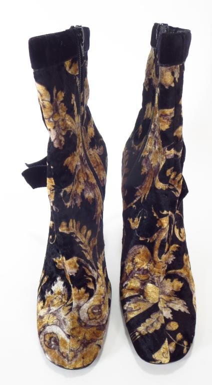 Casadei Velvet Brocade Boots