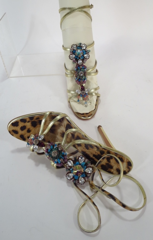 Roberto Cavalli Jeweled Sandals