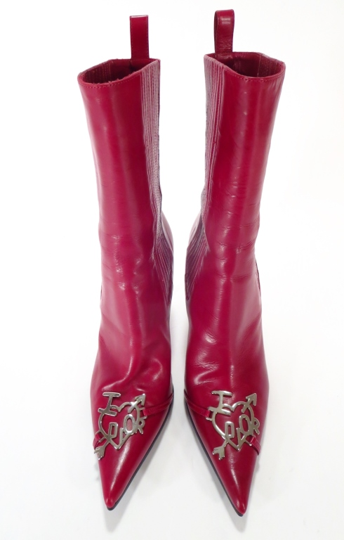 Christian Dior Red Boots