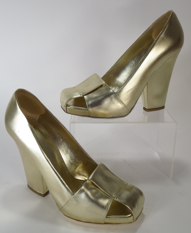 YSL Dada Gold Pumps