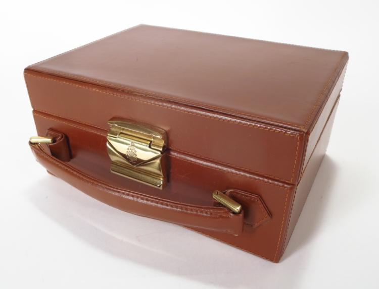 Mark Cross Brown Mini Travel Trunk