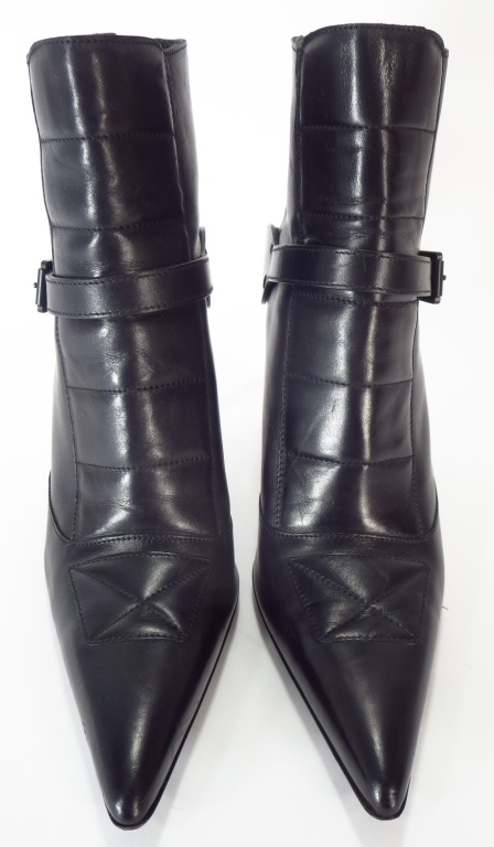 Gucci Black Leather Short Boots