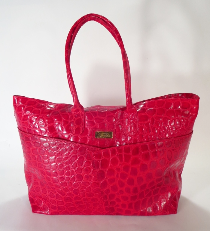 Terrida Crocodile Embossed Travel Bag