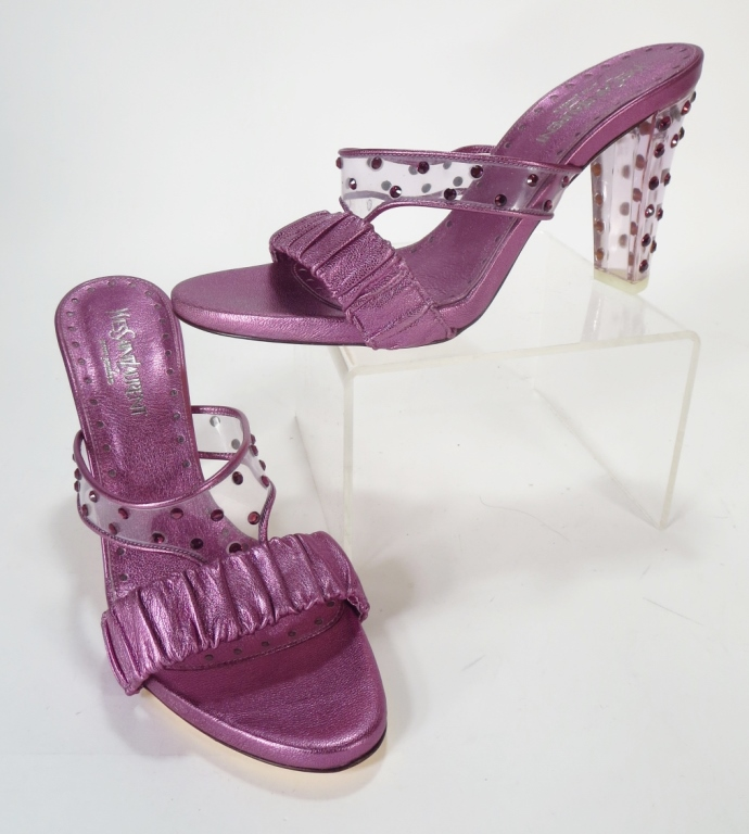 Yves St Laurent Purple Sandals