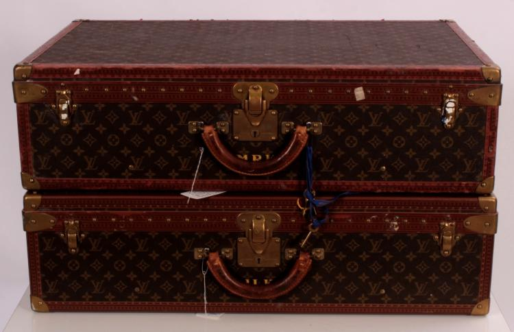 Two Vintage Louis Vuitton Hardcase Suit Cases