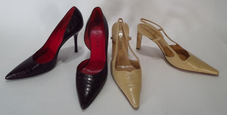Chanel Slingbacks & Celine Pumps