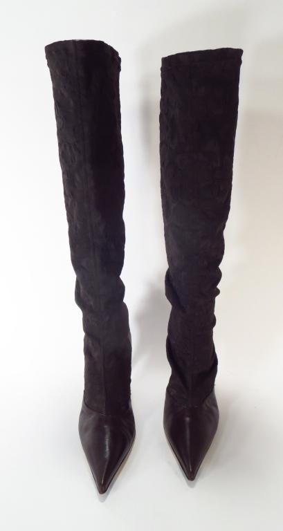 Denouee Brocade Boots