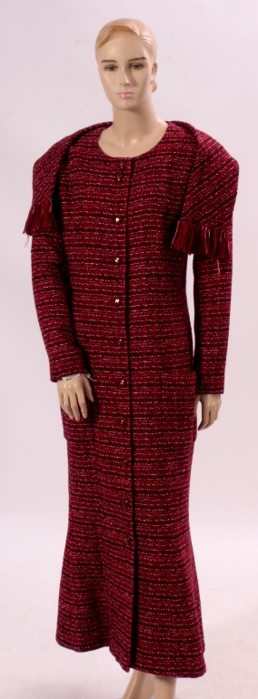 Chanel Red Woven Coat