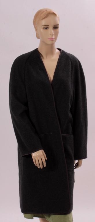 Grey Hermes Cashmere Coat