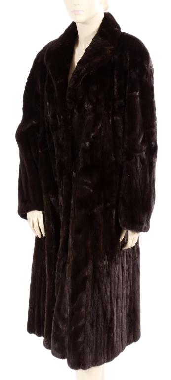 J. Mendel Dark Brown Mink Coat