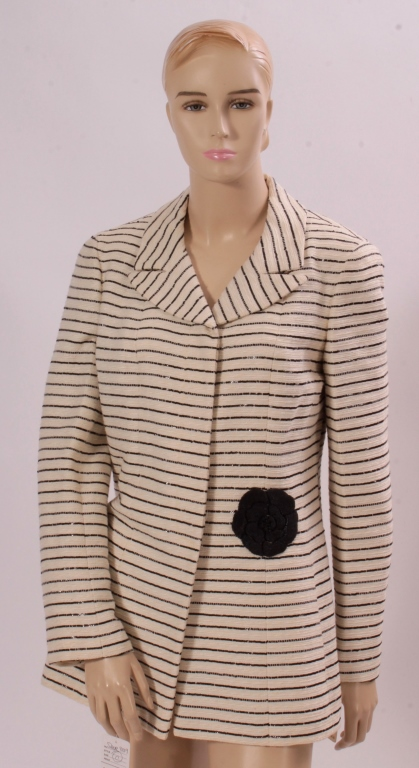 Chanel Striped Coat