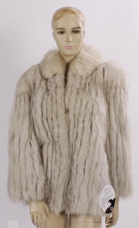 White Fox Fur Stroller