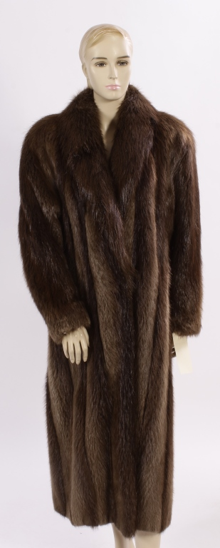 Nutria Full-Length Fur Coat