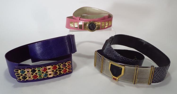 Judith Leiber Snake Skin Belts